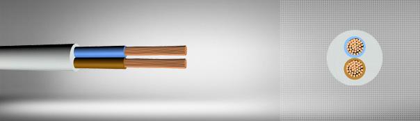 PVC multi-core cables with flexible copper conductor