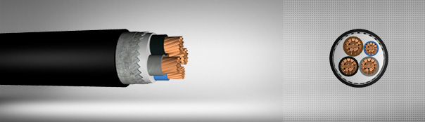 0.6/1 kV PVC Insulated, Flat Steel Wire Armoured, Multi-Core Cables With Copper Conductor