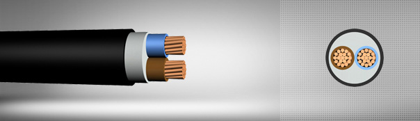 0.6/1 kV PVC insulated, multi-core cables with copper conductor
