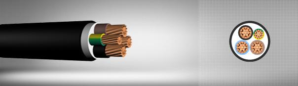 0.6/1 kV PVC insulated, multi-core cables with copper conductor
