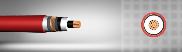 18/30 kV or 19/33 kV XLPE insulated single core cables with copper conductor