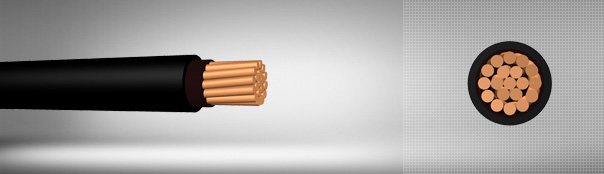 0.6/1 kV PVC insulated, single core cables with copper conductor